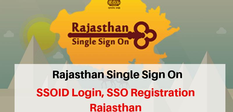SSO Registration Rajasthan Login